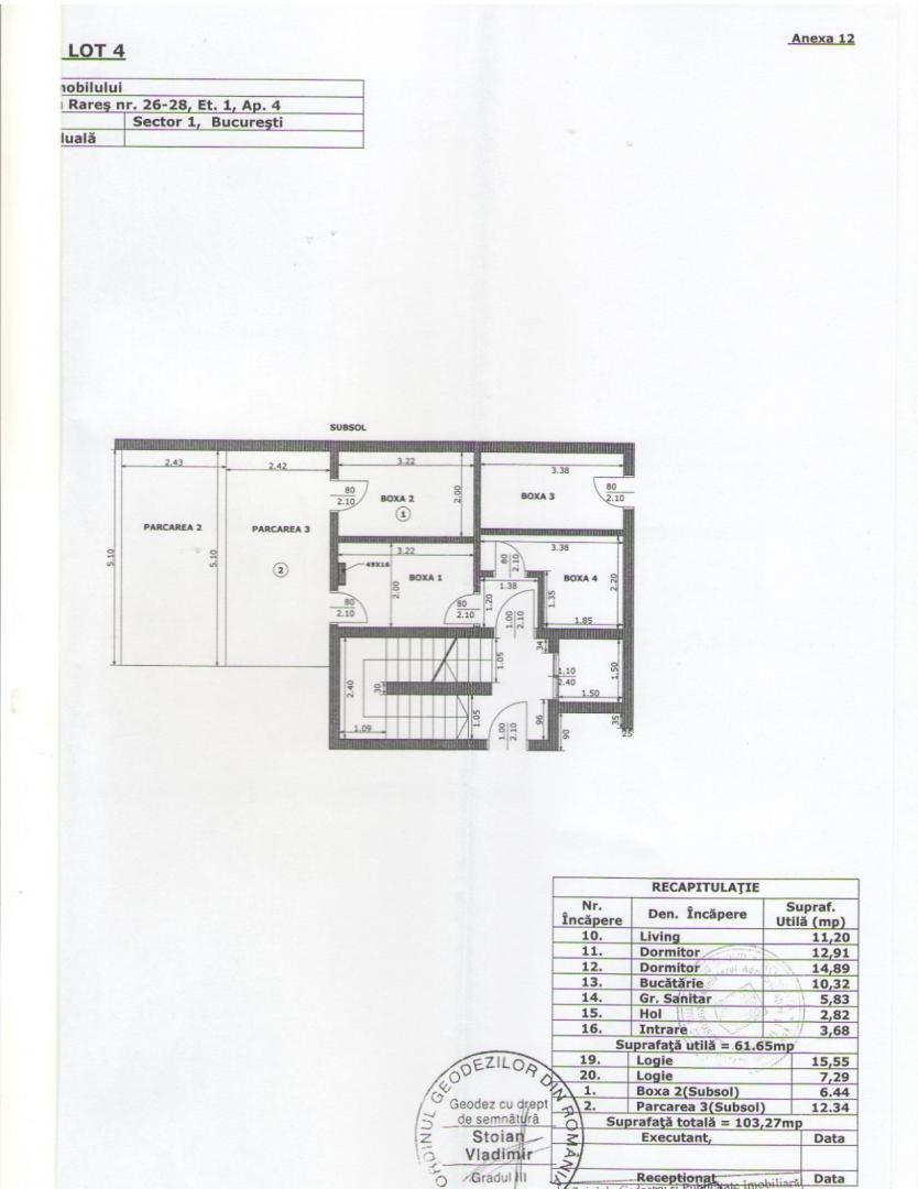3 Camere| Titulescu | Victoriei | Cuza | Basarab