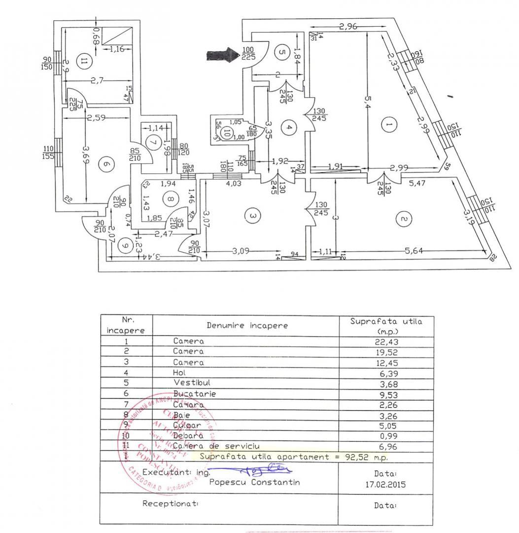3 Camere | Buzesti | Dr. Felix | Victoriei | 92mp