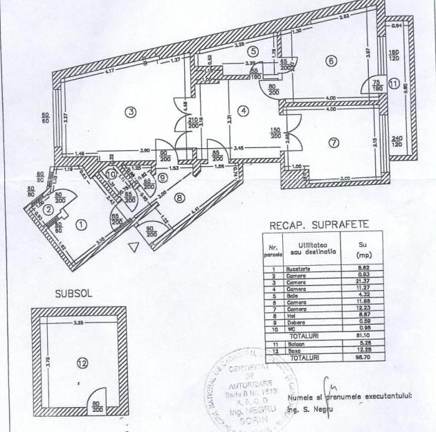 SOLD !!!!3 Bedroom Apartament Toamnei Dacia Eminescu