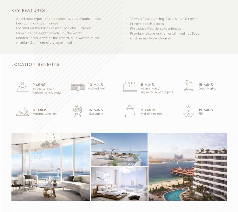 Dubai | Plaja | 2 Camere | Comision 0% | Sea view