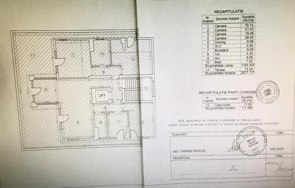 Penthouse 4 Camere Dorobanti Parcare Terasa Floreasca